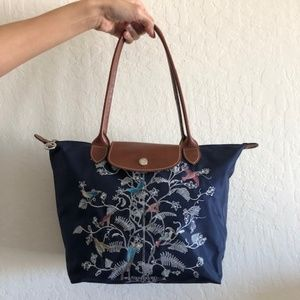 Longchamp Small Le Pliage Tote in Navy